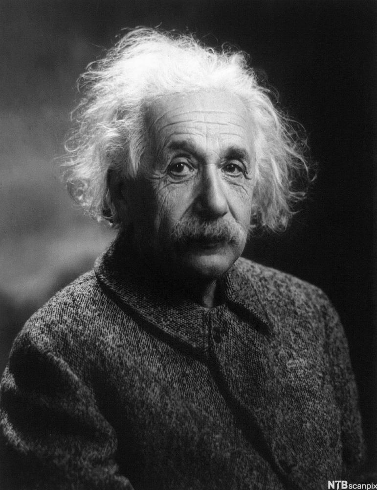 Portrettbilde av den sveitsiske fysikeren Albert Einstein