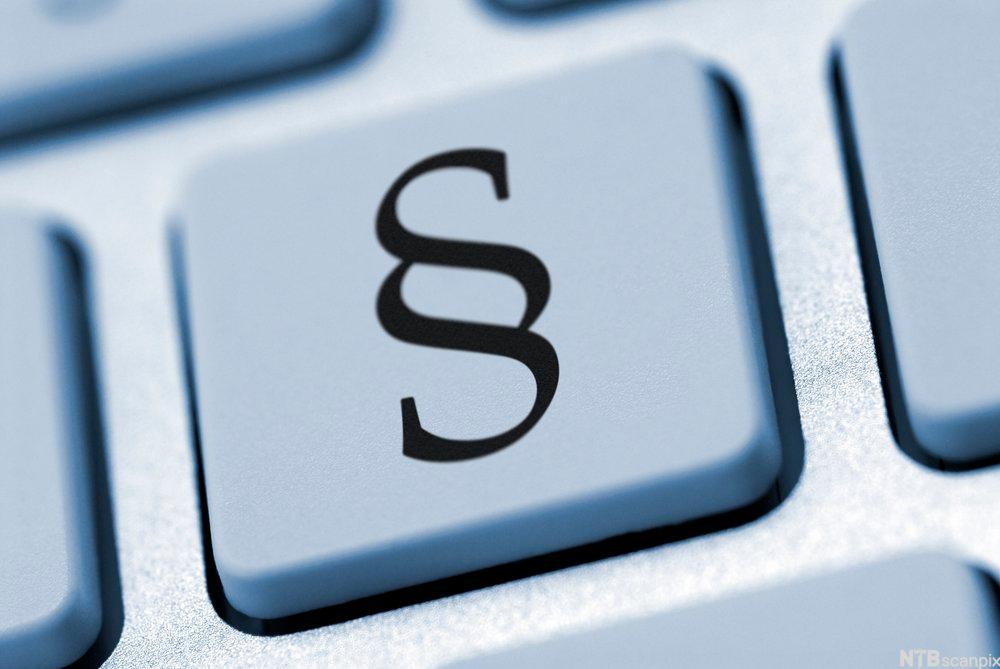 Bilde av en datatastaturknapp med et paragraftegn