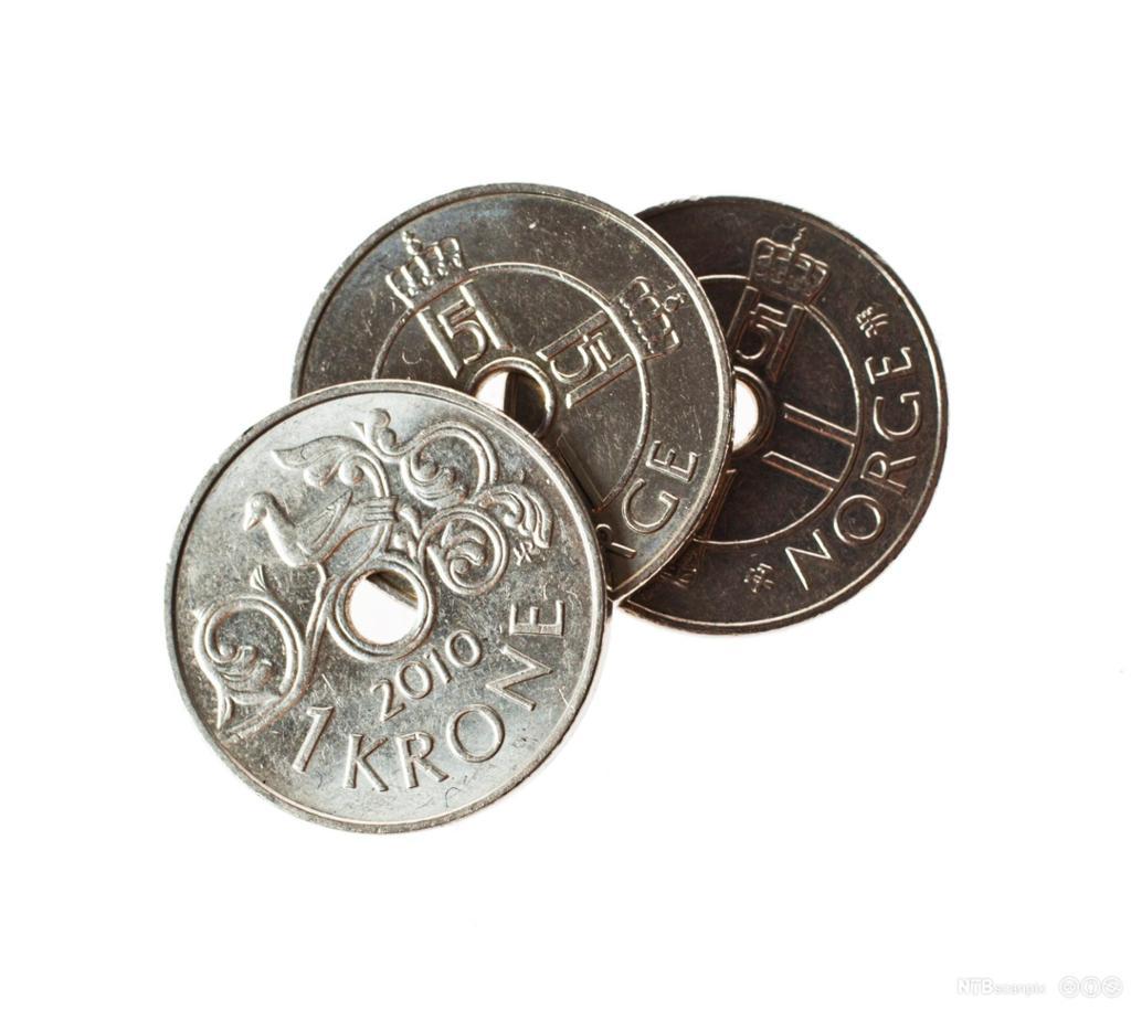 Tre kroner. Foto.