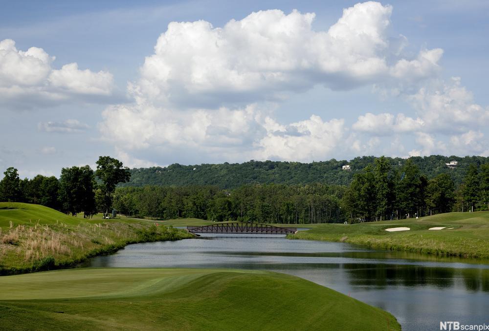 Bilde av en golfbane.