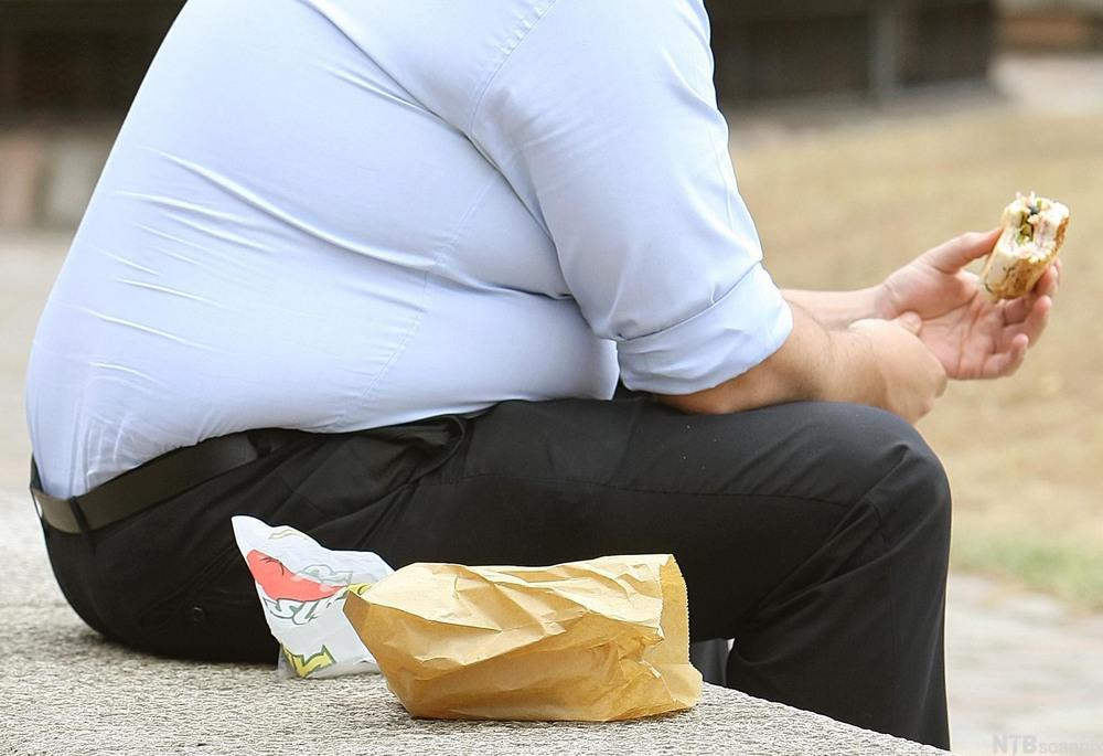 Overvektig person. Foto.