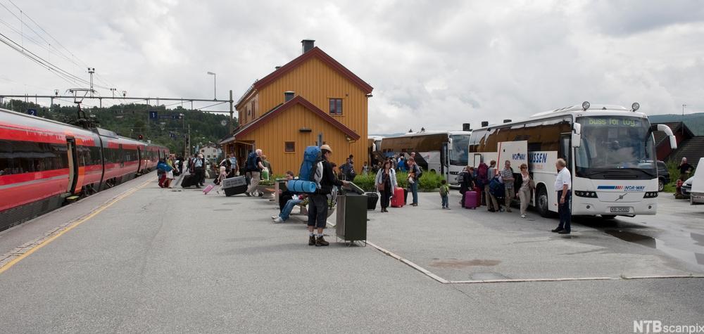 Geilo stasjon på Bergensbanen