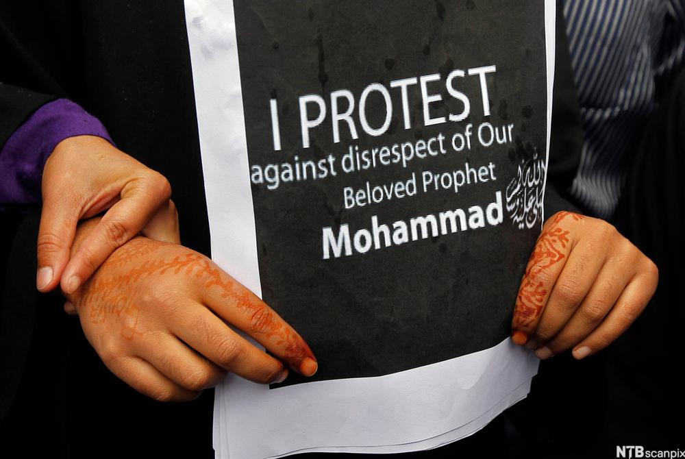 "Demonstrating against ""Innocence of Muslims"""