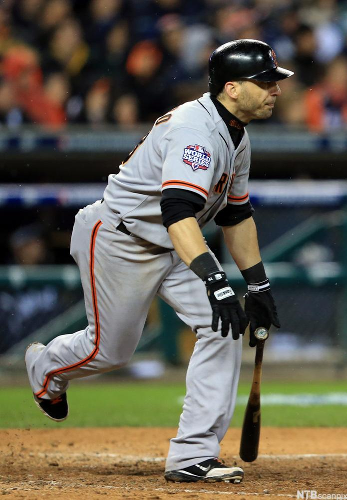 Marco Scutaro of The San Francisco Giants