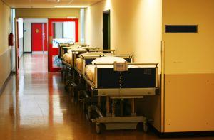 Sykehuskorridor. Foto.