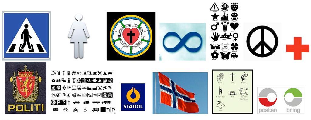 Symboler. Illustrasjon.