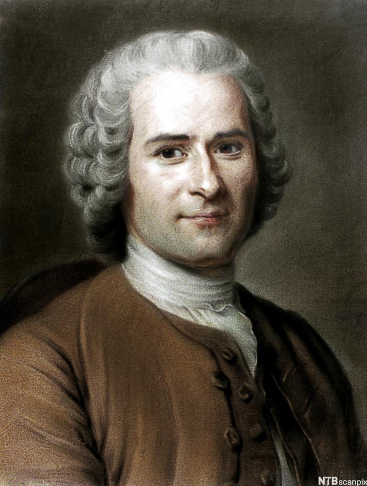 Jean-Jacques Rousseau. Portrett.
