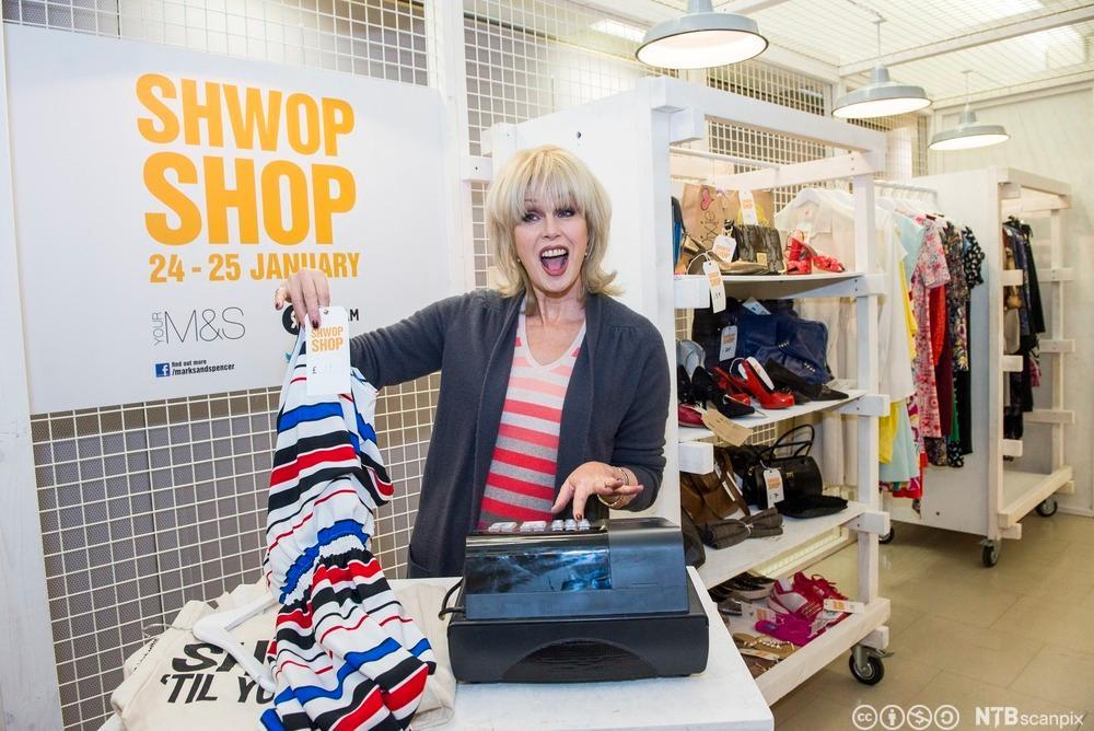 Joanna Lumley Opens Shwop Shop