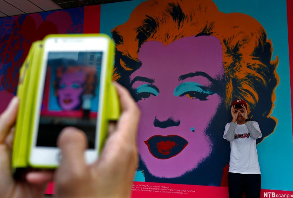 iPhonebilde av Andy Warhol kunstverk
