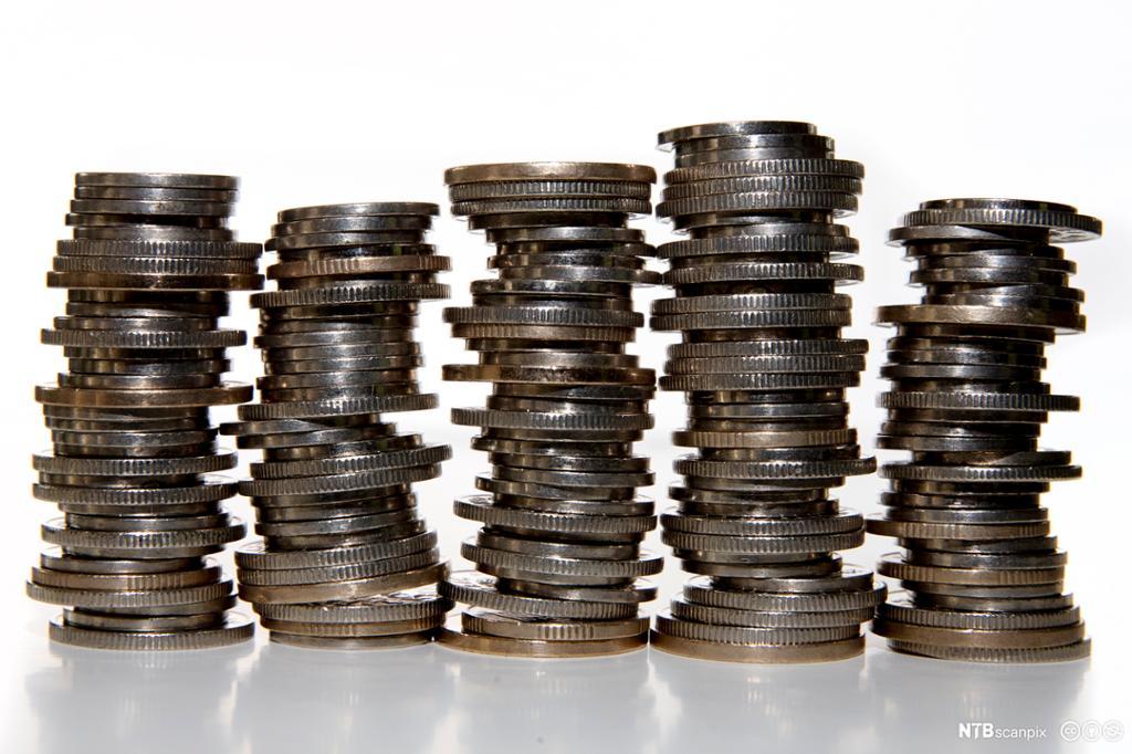 Bilde av forskjellige norske pengesedler