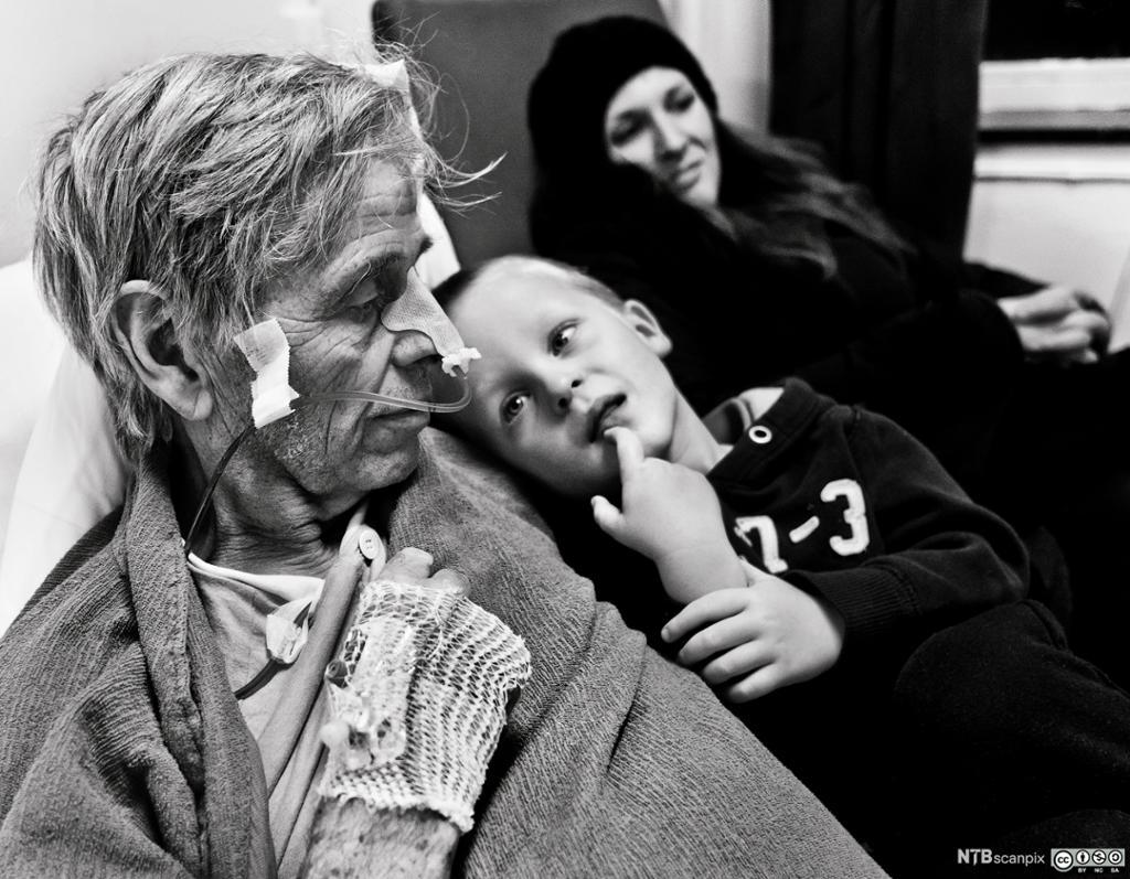Kreftsyk bestefar med barnebarn