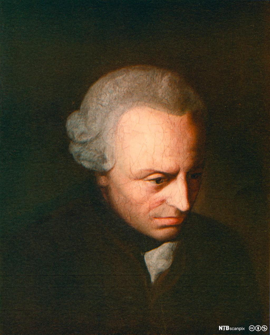 Portrettmaleri av filosofen Emmanuel Kant. Foto.