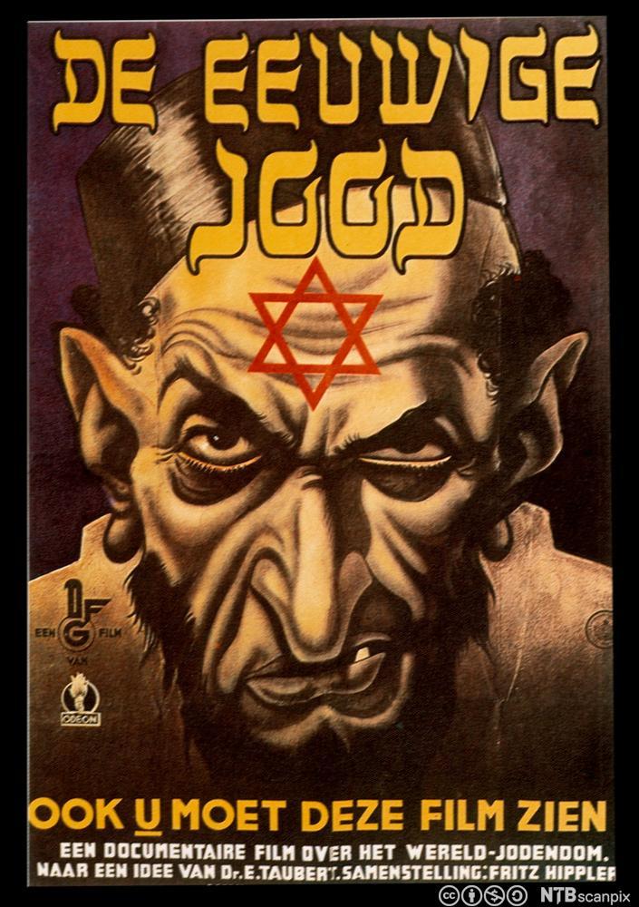 Filmplakat for propagandafilmen Der ewige Jude (1940)
