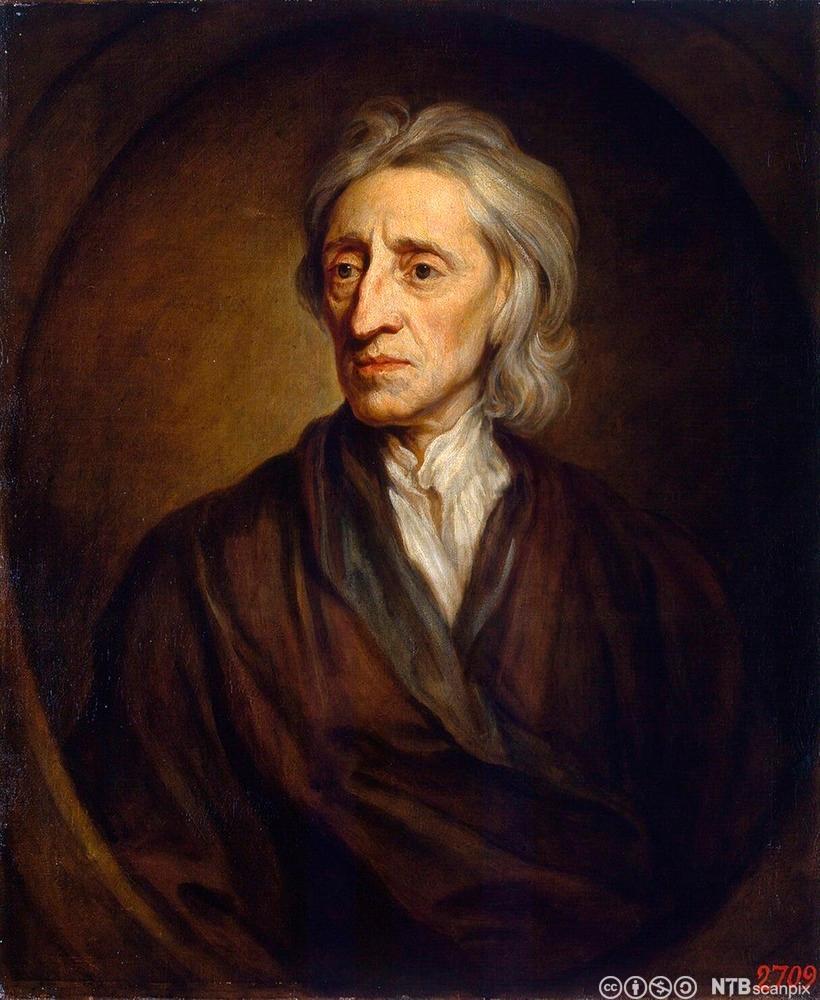 John Locke. Portrett.