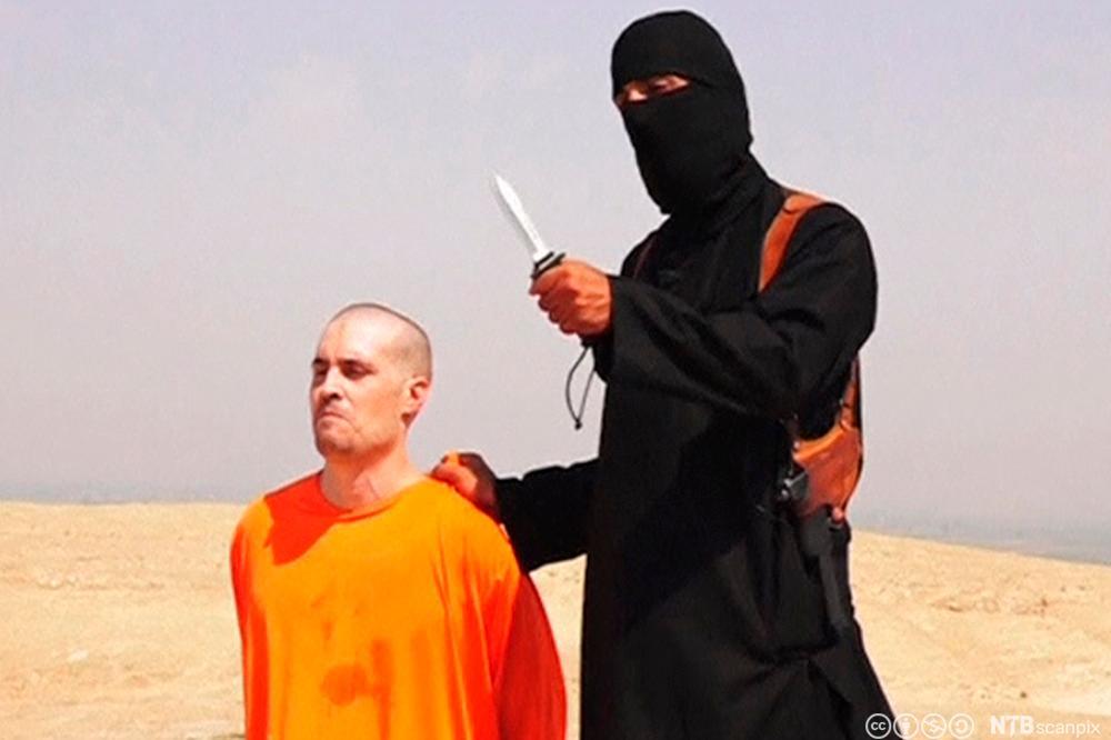 Stillbilde fra videoen som viser henrettelsen av journalisten James Foley.