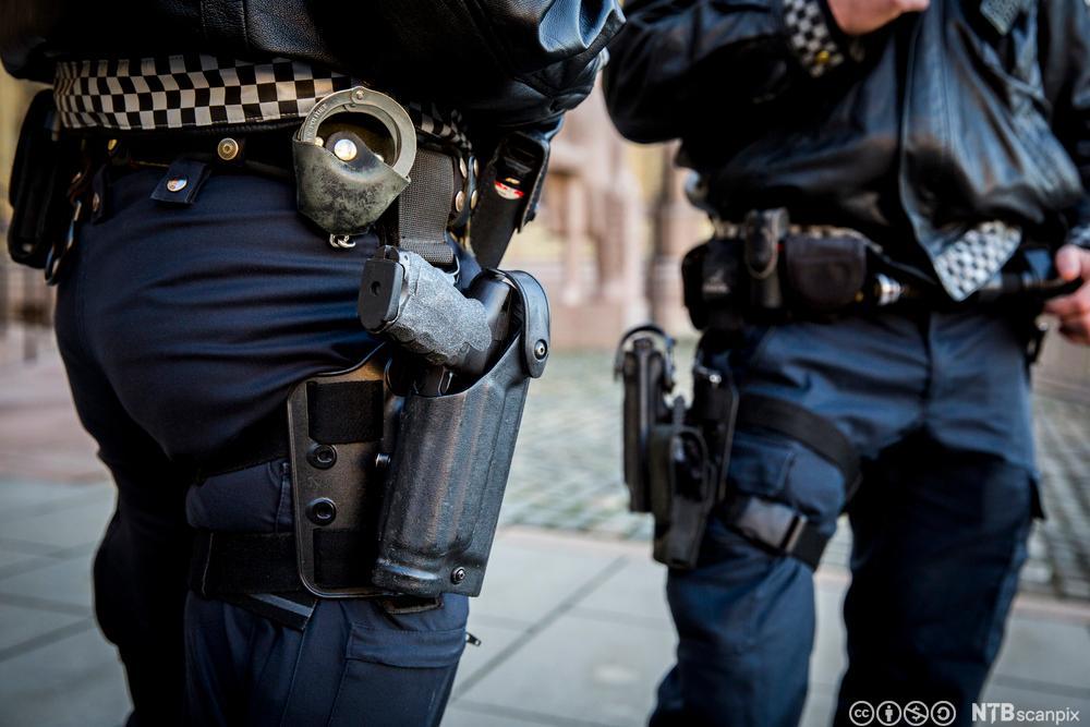Bevæpnet politi. Foto.