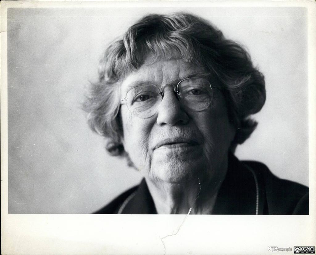 Den amerikanske antropologen Margaret Mead (1901-1978). Foto.