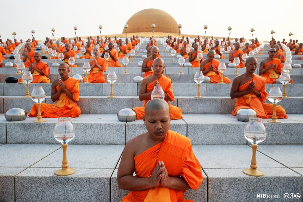 Buddhistmunker ber. Foto.