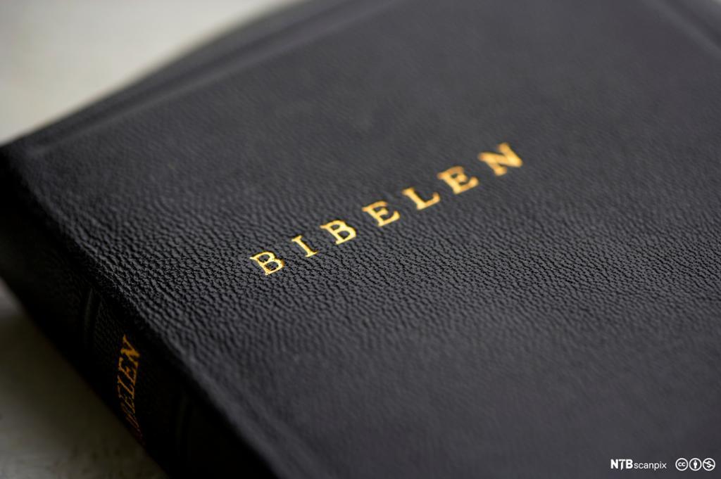 Et fotografi av bibelen.