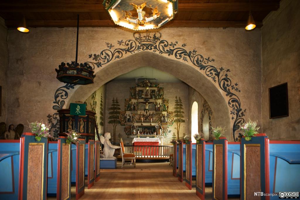 Kirkerom fra en kirke i Valdres. Foto.