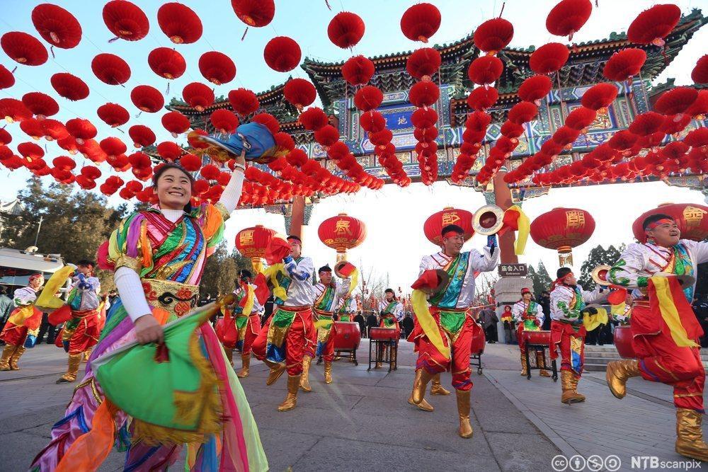 Feiring av kinesisk nyttår. Foto.