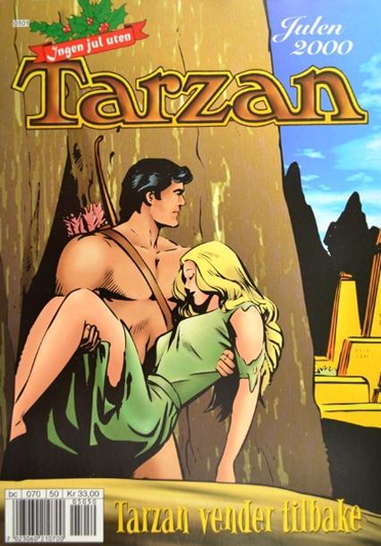 Magasinforside der Tarzan redden en kvinne. Faksimile.