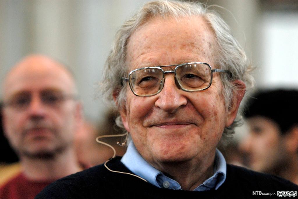 Portrett av Noam Chomsky. Foto.
