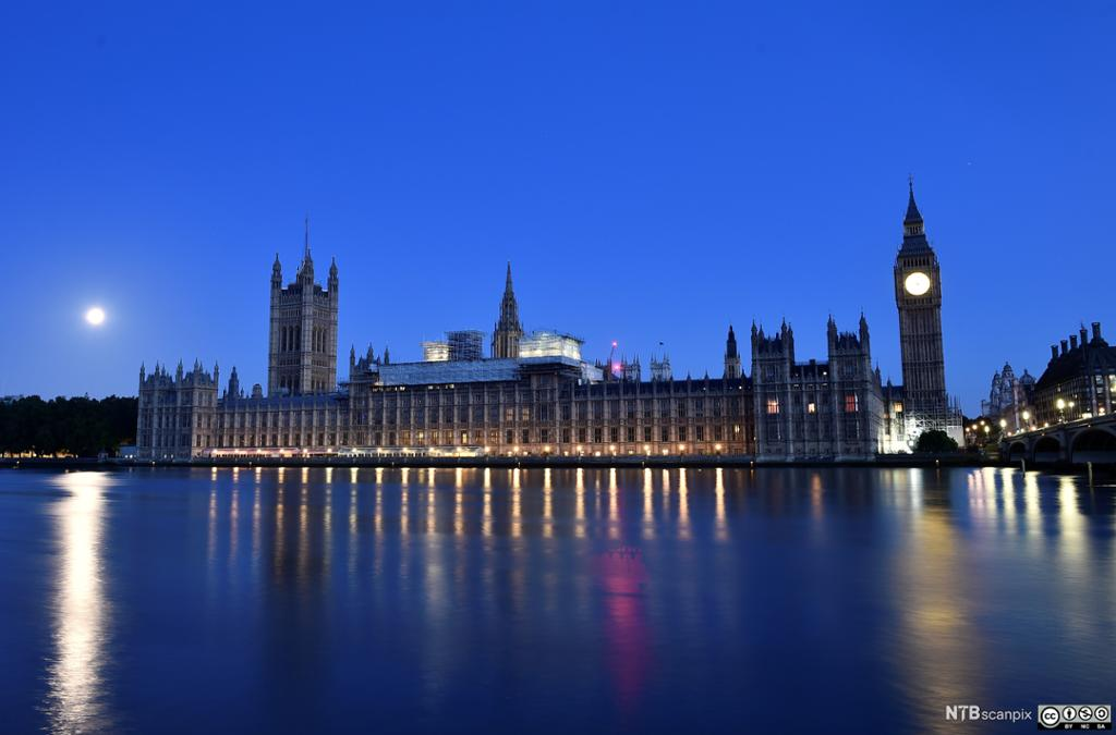 The Houses of Parliament in London. Photo.