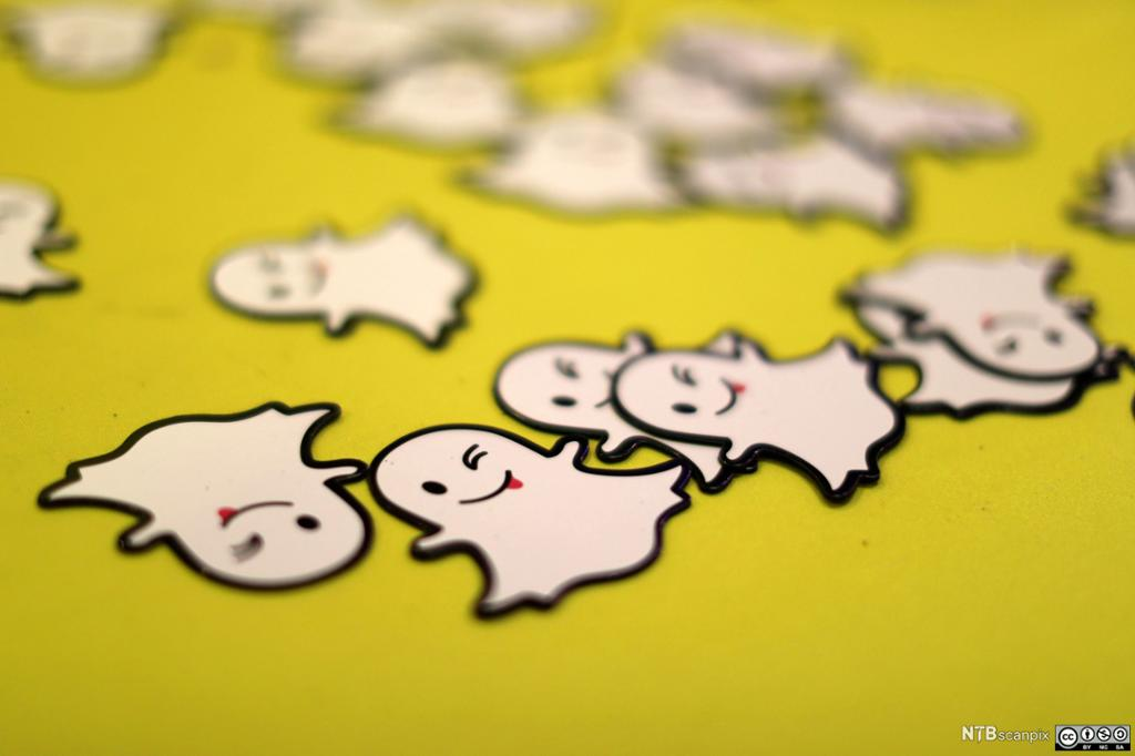 Logoen til Snapchat. Foto.