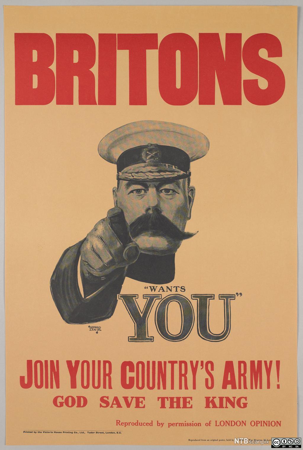 Britisk vervingsplakat i 1.verdenskrig