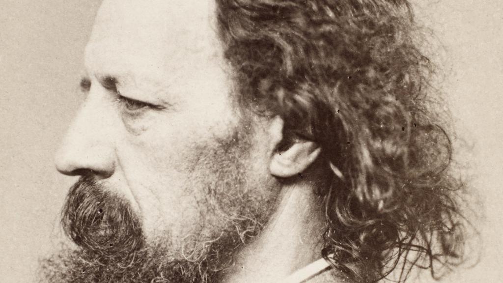 Alfred Lord Tennyson. Foto.