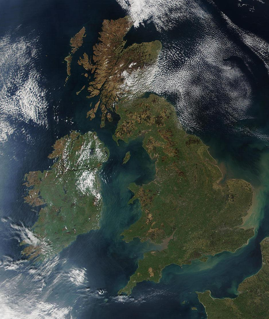 The British Isles. Foto.