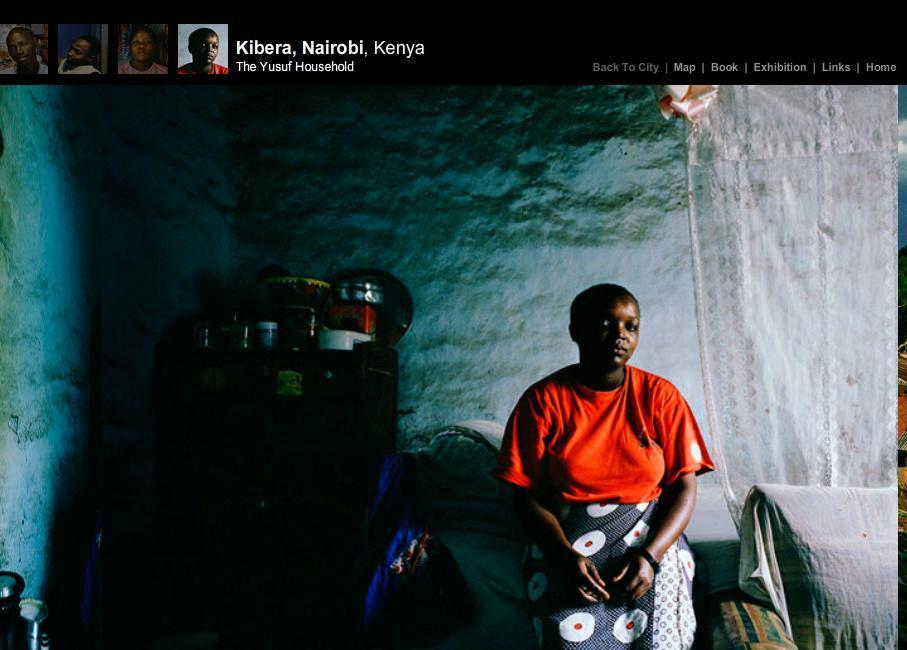 Bilde av en nettside i webdokumentarenThe Places We Live . Skjermdumper.