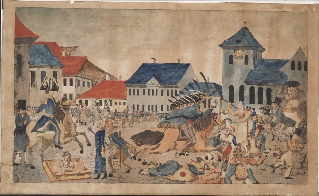 Torvslaget 1829. Maleri.