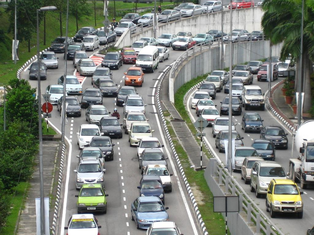 Traffic jam. Photo.