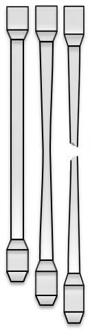 Borerør som er utsatt for strekk. Illustrasjon.