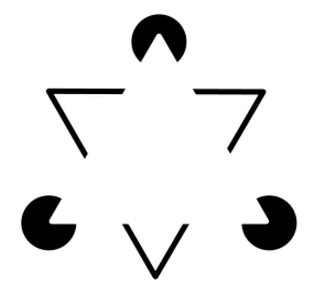 Trekant som egentlig ikke er en trekant. Grafisk.