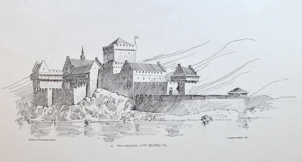 Akershus festning ca. år 1300