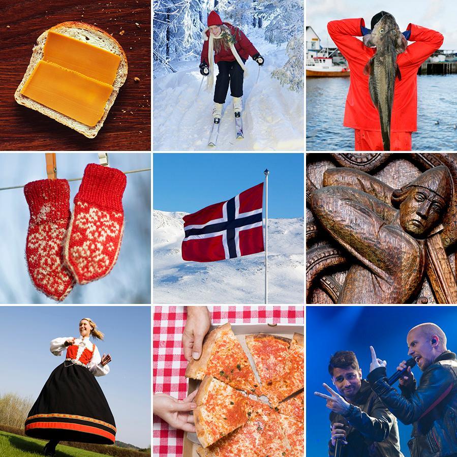 Typisk norsk. Fotokollasje.