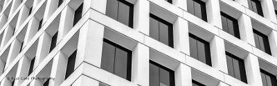 Del av skyskraper. Foto.