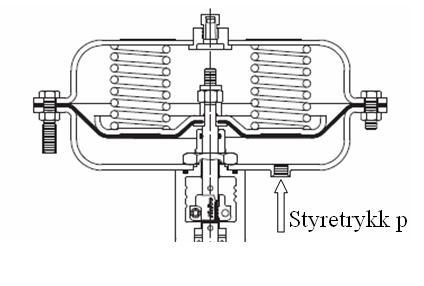 Membranmotor. Illustrasjon.