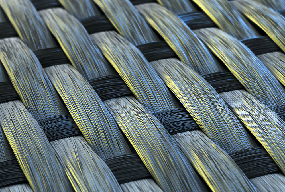 Kompositte materialer: Vevd glassfiber (SEM)