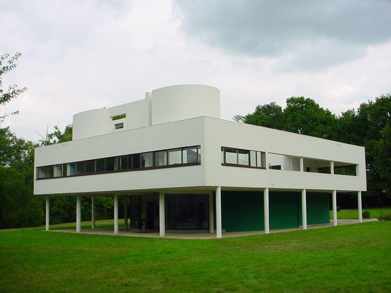 Villa Savoye i Poissy, Frankrike. Villaen er tegnet av arkitekten Le Corbusier. Foto.