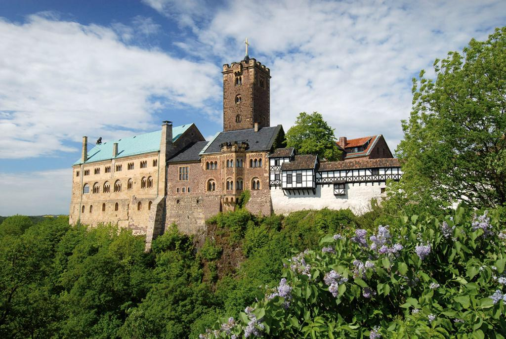 Borgen Wartburg i Eisenach i Tyskland. Foto.