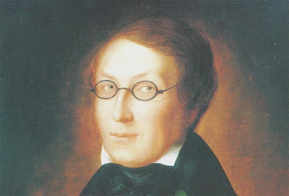Portrett av Henrik Wergeland. Maleri.