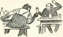 En av Kittelsens illustrasjoner til Smeden og bageren