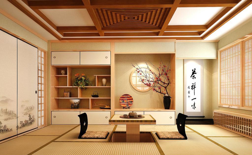 Japansk interiør. Foto.